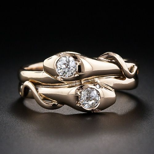 Victorian Snake Wedding Rings