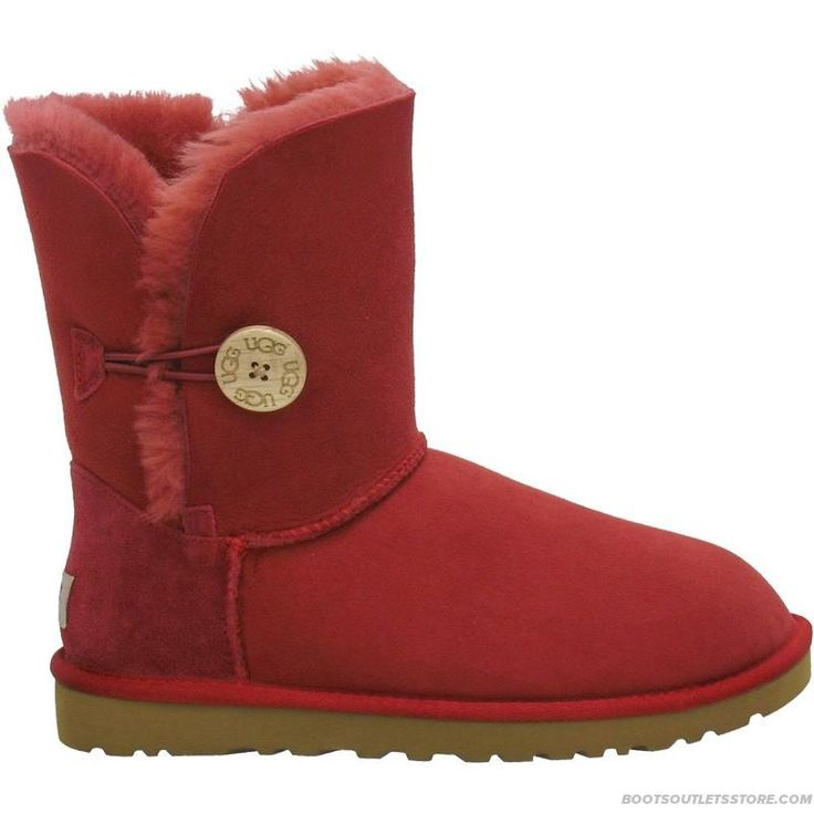 Ugg-Bailey-Button-5803-Red.