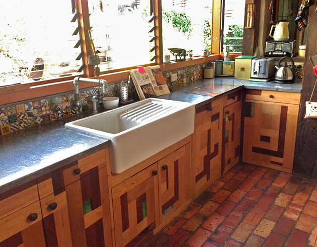kitchen design using recycled materials eco building inspiration