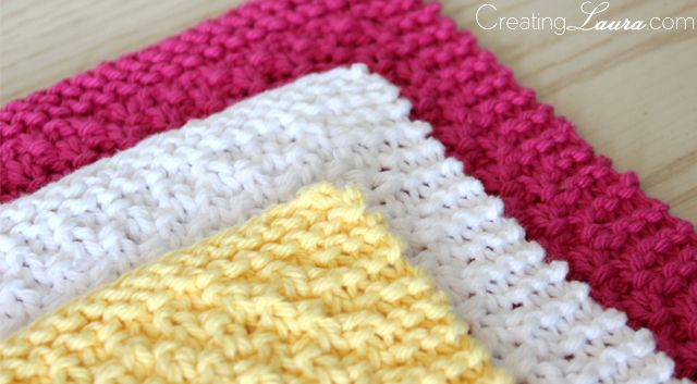 Knitting Washcloth Patterns : Washcloth Knitting Pattern Knitting Pinterest