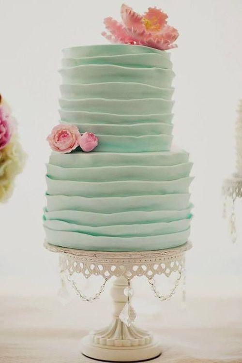 bolo casamento verde
