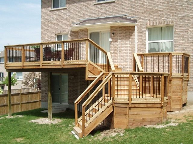 Non standard cascading 2nd story deck deck building for 3 story deck design