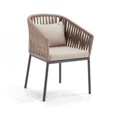 Bitta braided modern outdoor dining chair gk 70100 726