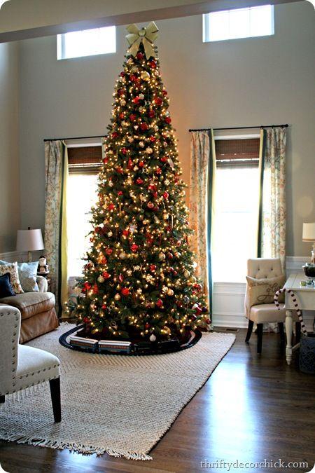 Decorated Flocked Christmas Trees