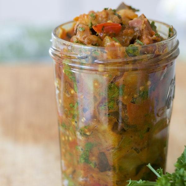 Eggplant Jam #Recipes #GetZomt | Salsa | Pinterest