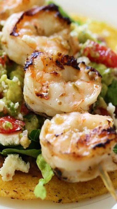 Grilled Shrimp Tostadas | Main Dishes - Seafood | Pinterest