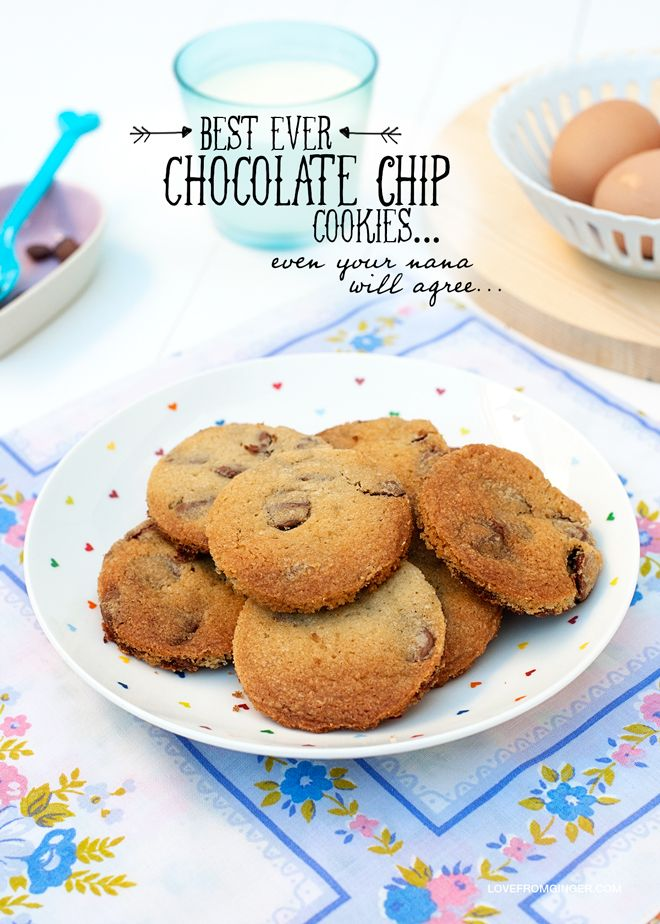 Best Ever Chocolate Chip Cookies - Love From Ginger