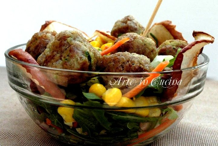 polpette light con zucchine e mele annurche