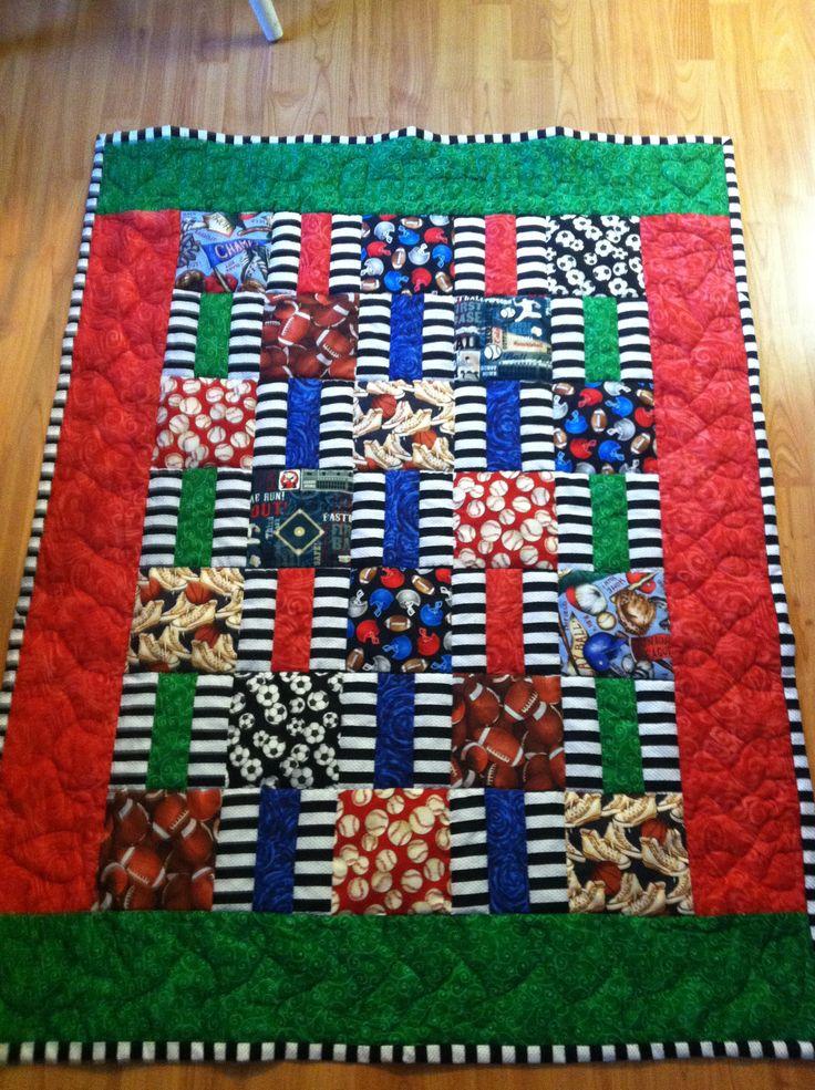 Sports Themed Quilt Patterns : Sport themed baby quilt. Wanna make a quilt Pinterest