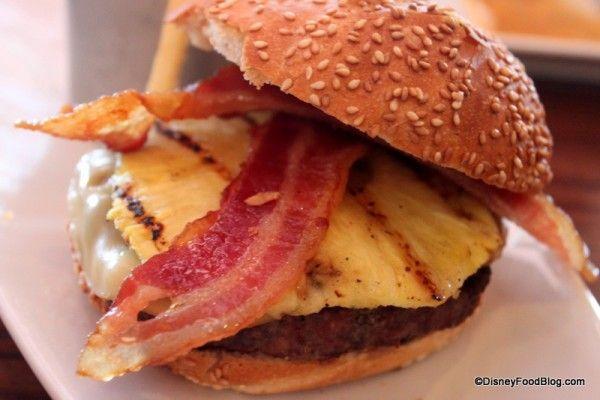 Pineapple Bacon Burger Paradiso 37 | disney food | Pinterest