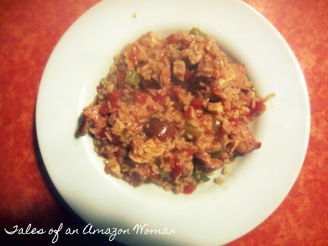 Spicy and healthy Chicken and Sausage Jambalaya