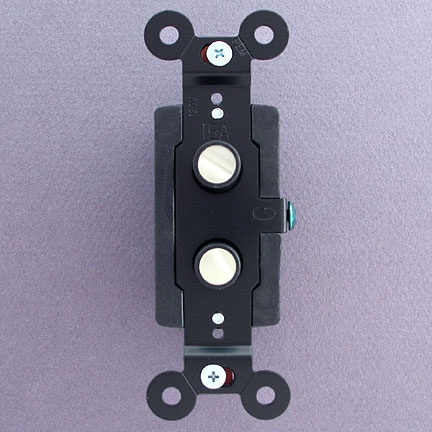antique style single pole two pearlized push button light switches. Black Bedroom Furniture Sets. Home Design Ideas