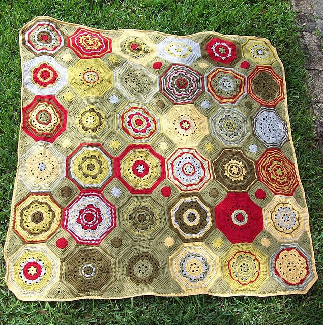 Mosaic Crochet Afghan Pattern : Pin by Joke on Blanket Pinterest