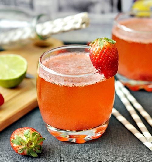 Sparkling Strawberry Lime Smoothie Recipes — Dishmaps