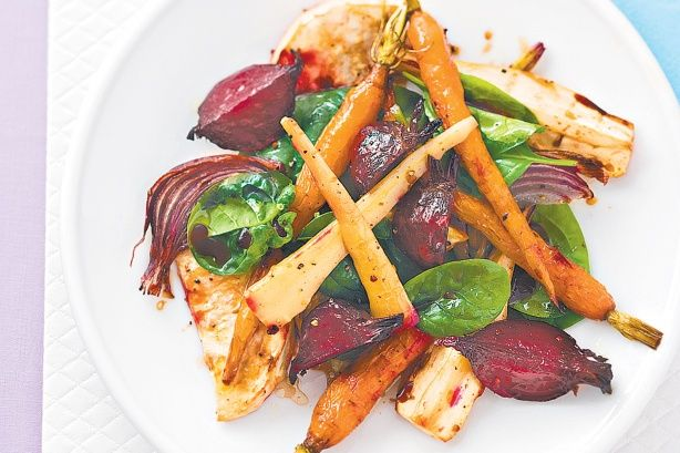 Roasted vegetable salad - will be nice in winter - from Taste.com.au
