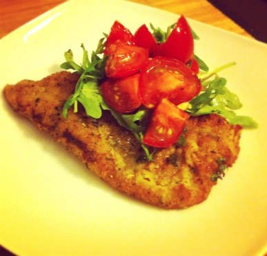Veal Milanese With Arugula Salad Recipe — Dishmaps