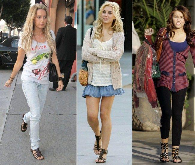 Miley Cyrus, Chelsea Staub, Ashley Tisdale