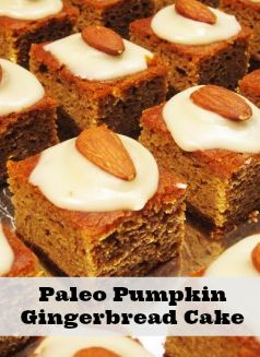 Paleo and Gluten Free Pumpkin Gingerbread Cake With Maple-Vanilla ...