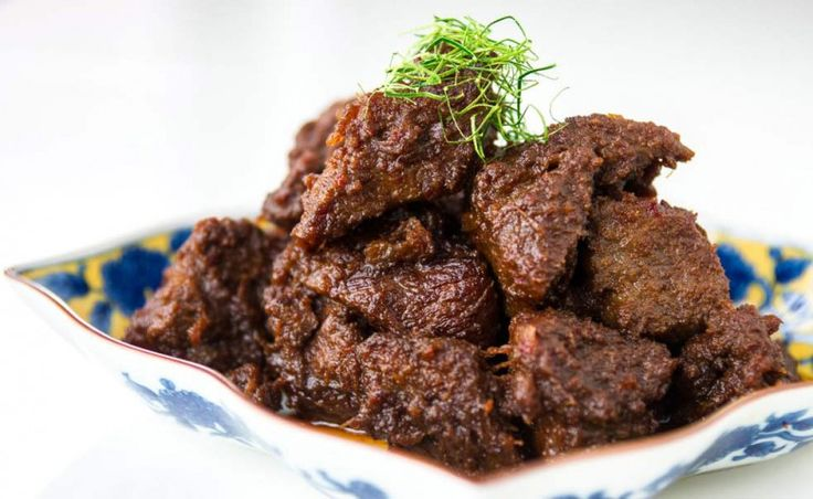 Beef rendang. Peranakan specialty found all over Singapore.