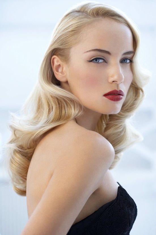 Hollywood Glam Wedding Makeup : bridal beauty - Hollywood siren Face Glam. Pinterest