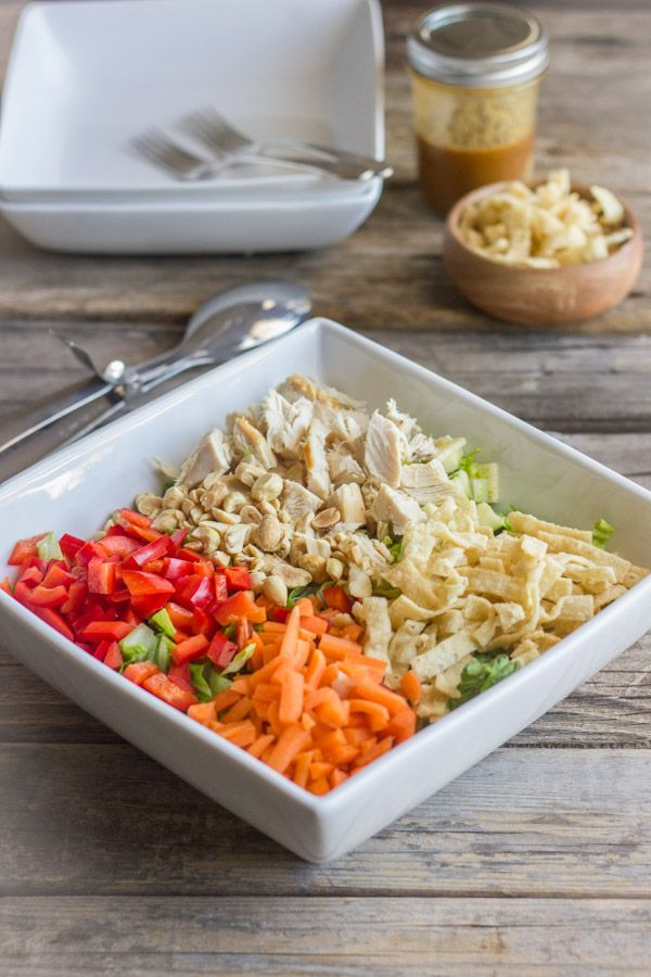 Chopped Chinese Chicken Salad With Sesame Peanut Dressing - Dressing ...
