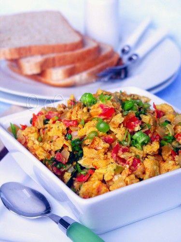 Egg Bhurji (scrambled eggs Indian style)