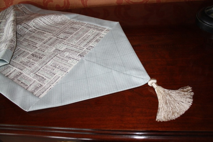 10 minute table runner sewing around the home pinterest for 10 minute table runner instructions