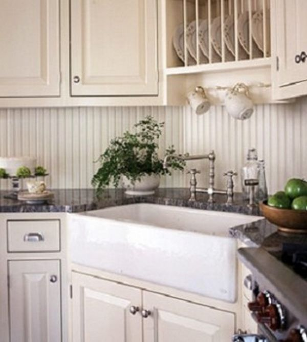 Corner sink - cabinets Kitchens Pinterest