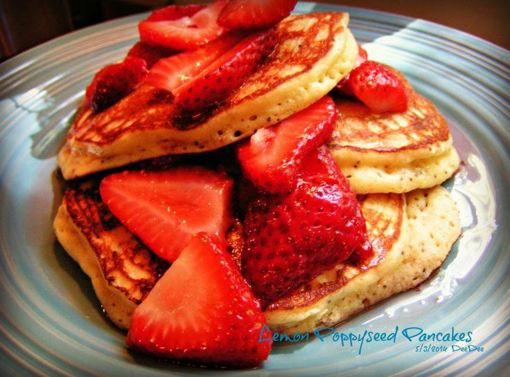 Lemon Poppy Seed Pancakes | breakfast | Pinterest