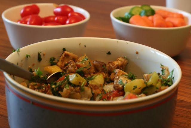 Kosher on a Budget » Roasted Zucchini & Eggplant Salsa Recipe