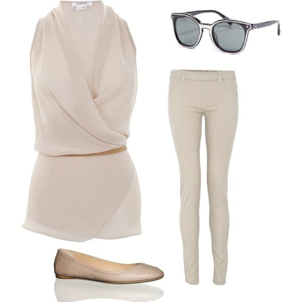 Casual Off White, created by lauramayes on Polyvore