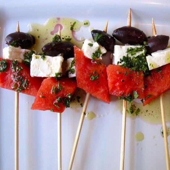 Watermelon and Feta Skewers | Recipe