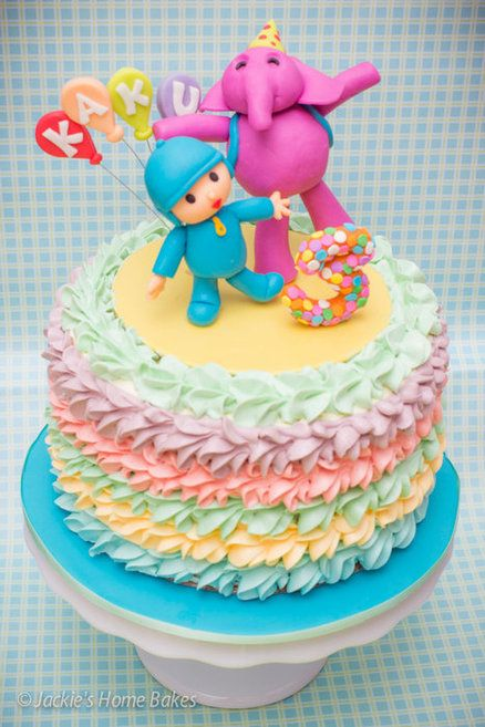 Pocoyo and Ellie Cake Cake by JackiesHomeBakes