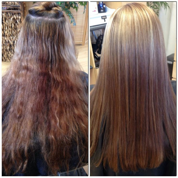 Color correction before and after beautiful hair by me