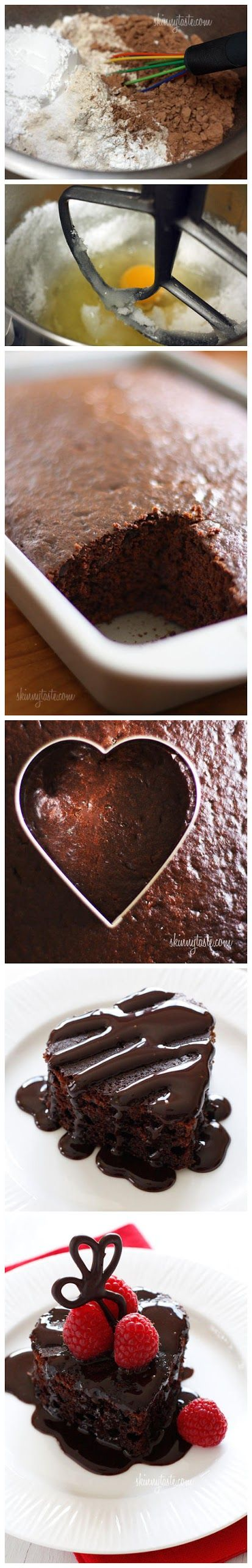Homemade Skinny Chocolate Cake | Homemade cake | Pinterest