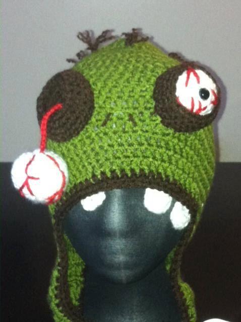Crochet Zombie : Crochet Zombie Hat Crochet Makes Me Curse Pinterest