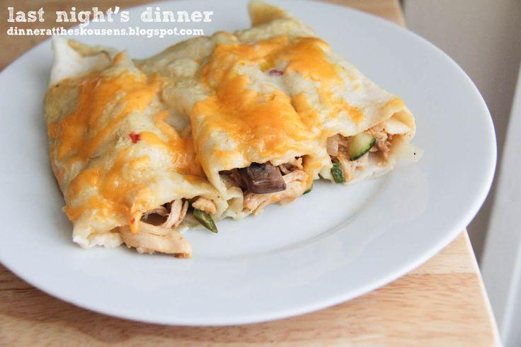 chicken and veggie enchiladas // last nights dinner