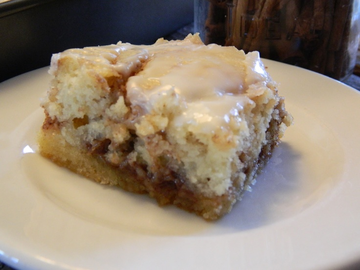 ... sinful but oh so delicious! The Wednesday Baker: BUTTERY CINNABUN CAKE