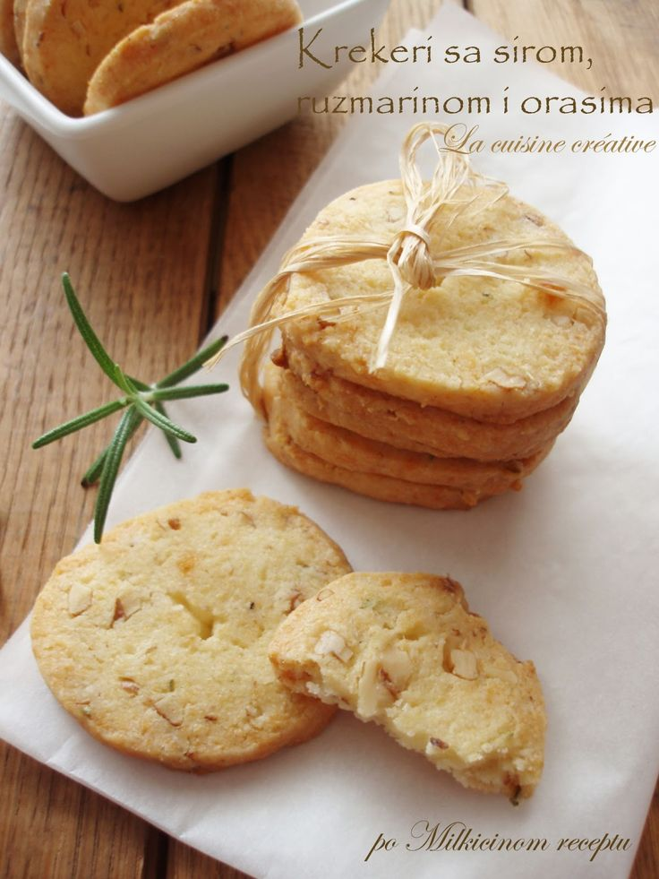 Cheese, Rosemary and Walnut Crackers | Favorite recipes | Pinterest