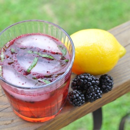 Blackberry and Basil Gin & Tonics | Anna Shortcakes