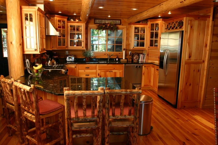 Log Home Kitchen For The Home Pinterest