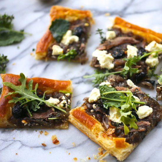 Sweet Onion And Goat Cheese Tarts With Thyme Recipes — Dishmaps