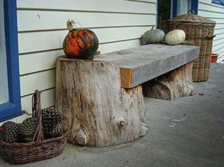 Tree Trunk Slab Bench I Random Outdoor Projects Pinterest