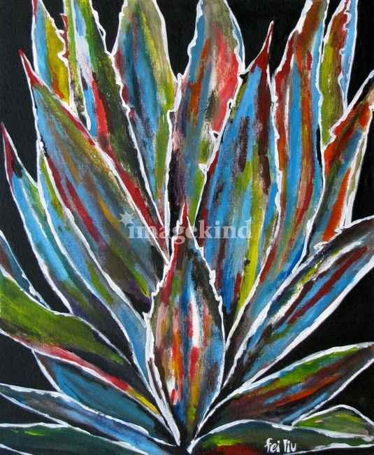abstract cactus painting art pinterest