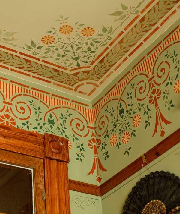 frieze and ceiling stencils victorian ceilings pinterest