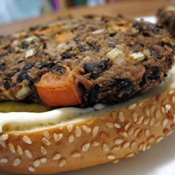 Homemade Black Bean Veggie Burgers (replace egg with 1tablespoon ...