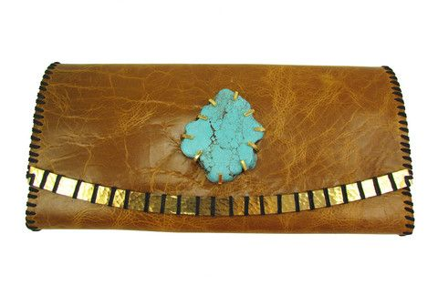 Turquoise clutch love!