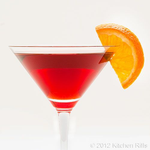 The Negroni Cocktail - a light pre-dinner cocktail made with campari ...