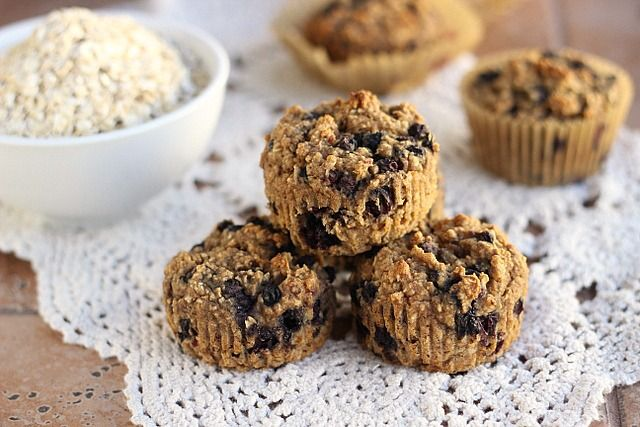 ... free Blueberry Oat Muffins (gluten-free, vegan) | Oatmeal with a Fork