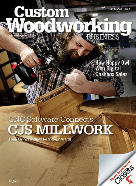 Custom woodworking business july 2015 how to make a for Hanley wood magazines